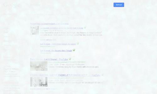 google let it snow defrost