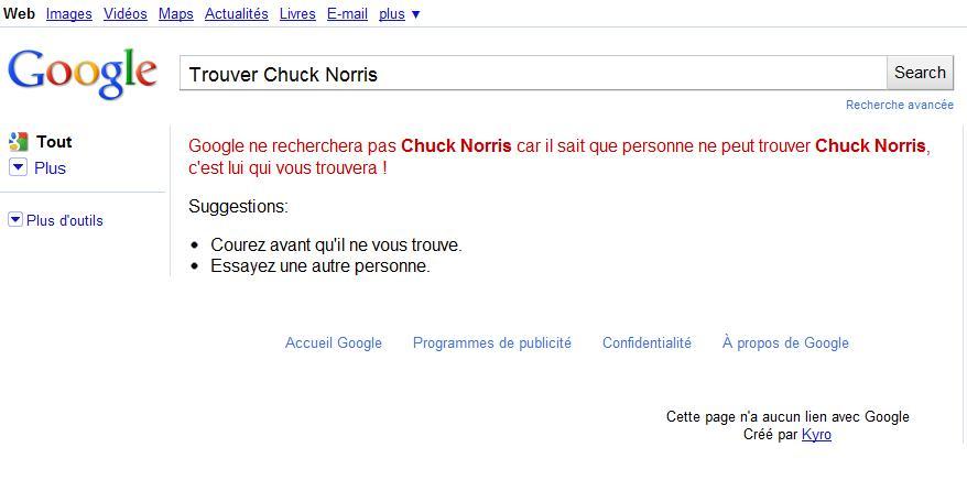 Google trouver chuck norris un regard certain - Chercher chuck norris sur google ...