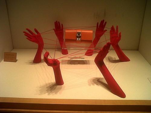 hermes fils rouges mains sac