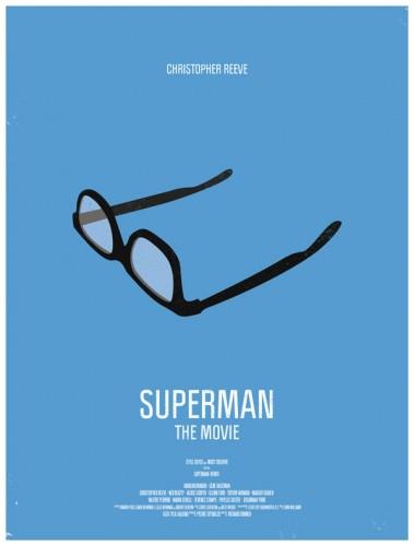 superman affiche lunettes