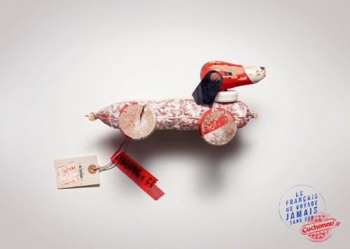 Jouet chien - pub print Cochonou