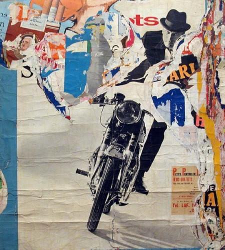 """Jacques Villeglé, """"moto, avenue ledru rollin"""", 1965"""