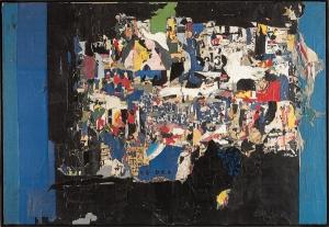"""Jacques Villeglé, """"rue René Boulanger, Boulevard Saint-Martin"""", juin 1959, 293x430cm"""