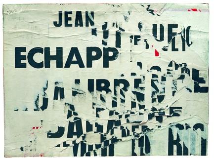 """Jacques Villeglé, métro sentier, série """"la lettre lacérée"""", 22 septembre 1964, 26.6x34.5cm"""