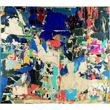 Jacques Villeglé, août-1959, Boulevard Saint-Martin, 222x252cm, oeuvre vendue 312 750 euros