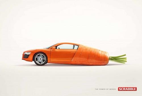 Publicité print Scrabble Car-Rot
