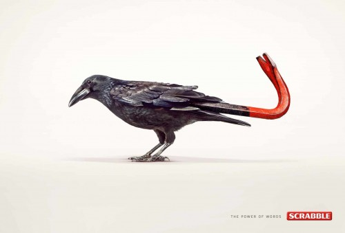 Publicité print Scrabble Crow-bar