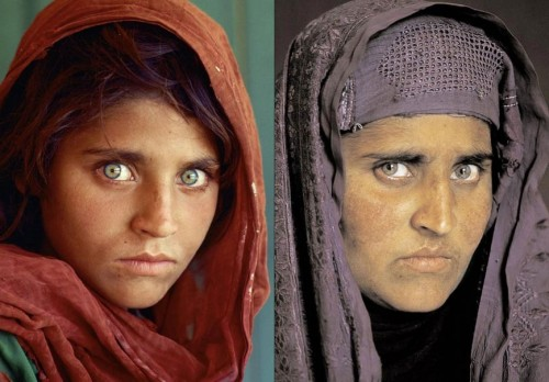 Steve McCurry - Portrait d'une femme afghane